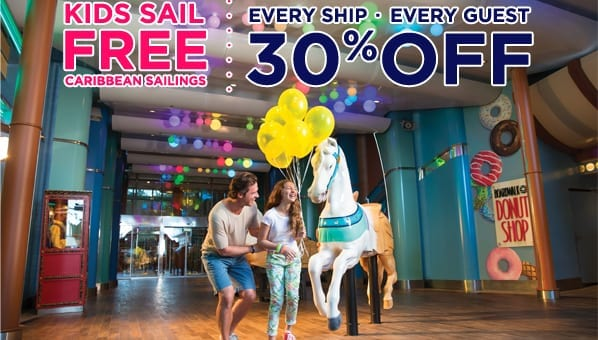 Kids Sail Free + 30% OFF every guest